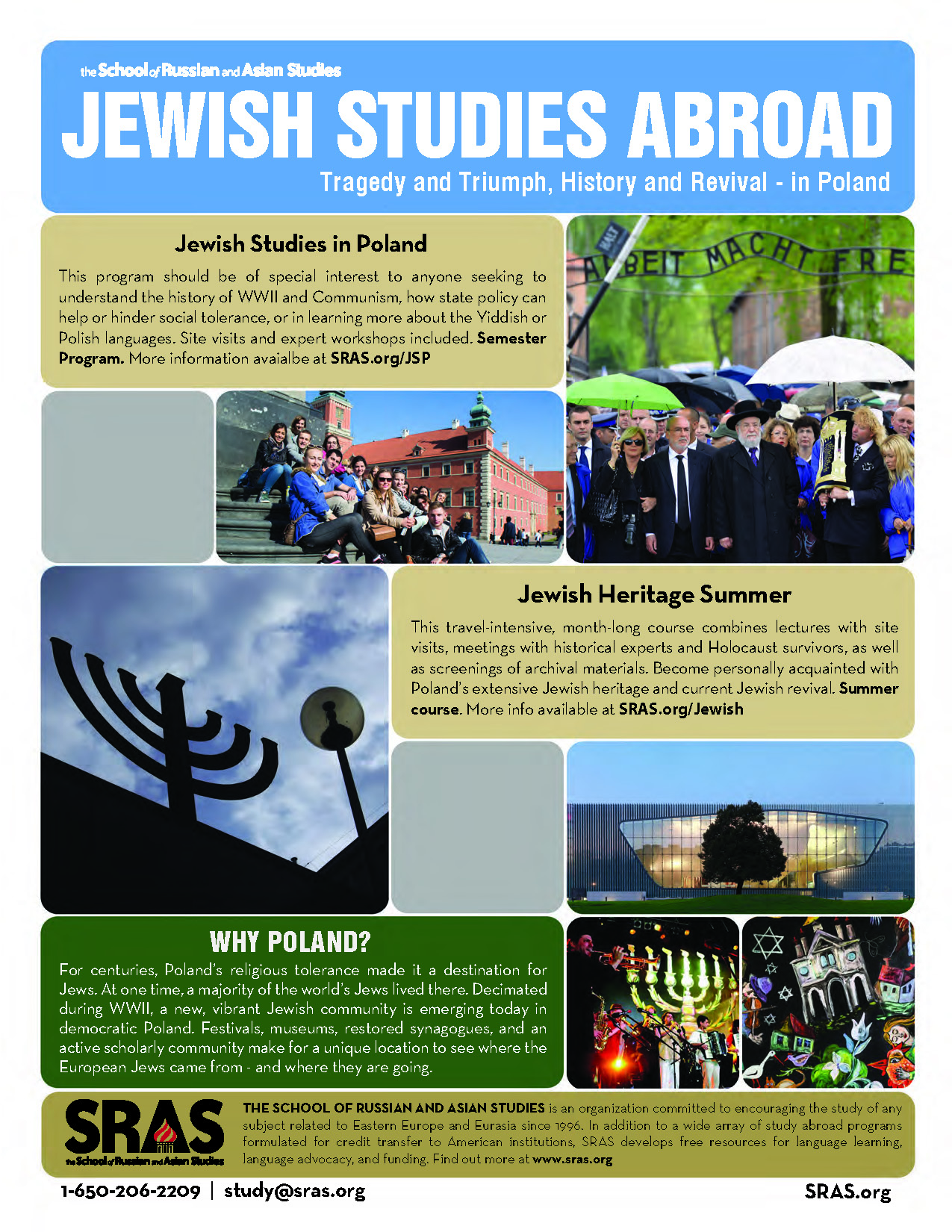 Jewish Studies Abroad in Poland SRAS flyer